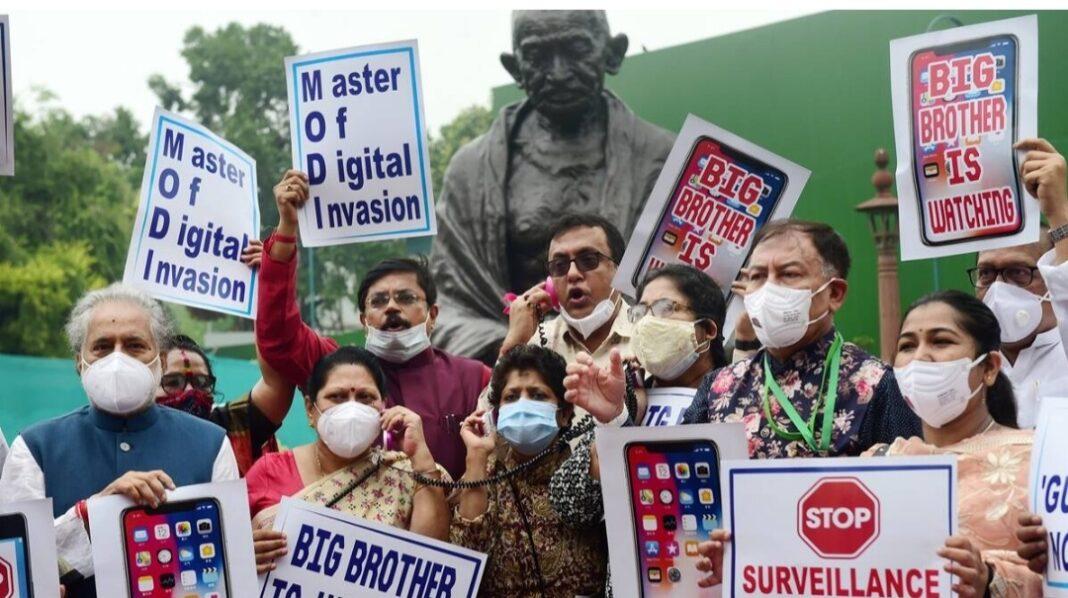 Pegasus row: Storm in House, Opp says democracy in crisis, seeks SC judge probe